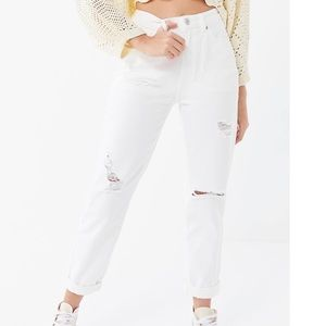 Urban outfitters bdg white mom jeans